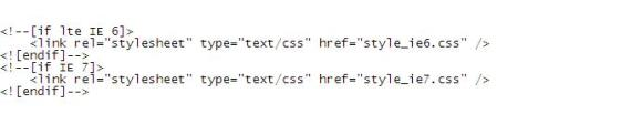 conditional stylesheets